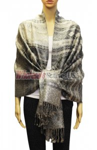 Geometry Pattern Scarf BH1805 Grey
