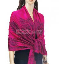 Phenix Tail Light Shawls Fushia