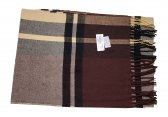 Cashmere Feel Plaid Scarf Brown #47549