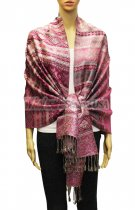 Geometry Pattern Scarf BH1805 Hot Pink