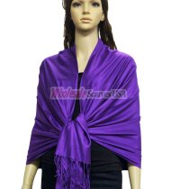 Super Solid Pashmina blue violet