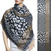 Leopard Section Pattern Scarf Black